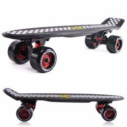 Wholesale quot Peny Nickel Skateboard drift Block Neon Orange PV Cruiser Mini Longboard Complete plastic pnny skateboard