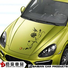 Wholesale Front hood cover stickers personalized car scratches reflective artistic decorative garland shipping custom modification
