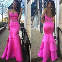 Real Picture Evening Dresses Mermaid Sexy Prom Satin Sweetheart Slim 2016 Beads Sash Formal Long Party Gowns Women Dresses