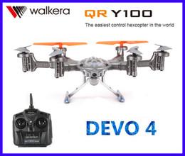 2017 gps quadcopter fpv Gros-Walkera QR Y100 FPV Wifi Temps réel Vidéo RC Quadcopter Drone Hélicoptère Aircraft UFO DEVO 4 avec caméra GPS moteur Brushless peu coûteux gps quadcopter fpv