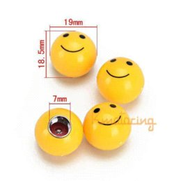 Wholesale 4pcs Set Car Round Valve Cap Covers Ball Motorcycle Air Stem Eye Ball Tyre Tire Caps Cover For Wheel ABS Yellow White Black M43470