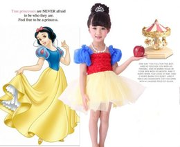 snow white tutu girls puff sleeve dress girls short sleeve snow white costume kids snow white birthday party children day gift in stock