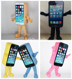 Wholesale Iphone c Promotion Mascot Costume Express Advertising Phone Mobile Store Mascot Costume Cell Phone Apple high quality Adult Size SALE
