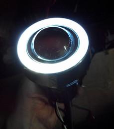 "Universal 3"" 55W fog lamp h3 halogen fog light projection lens with white led angel eyes"