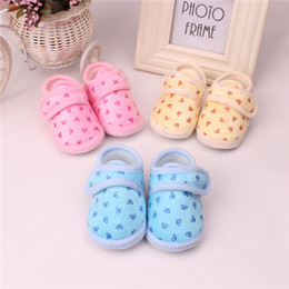 Wholesale Infant Boots Baby Shoes Walking Pair NEW Newborn Baby Boy Girls Cute Smile Bear Toddler Shoes Spring Autumn Children Footwear
