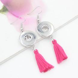 Free Shipping Wholesale DIY Snap Jewelry Earrings 18mm Snap Tassel Earrings Trend DIY Jewelry Interchangeable Earrings