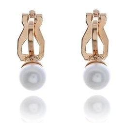 5pair of white faux pearl earring cuff clip on wedding bridal no piercing