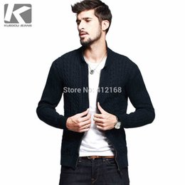 Wholesale AZ Famous Brand KUEGOU Napapijri Cotton Cardigans Autumn Winter New Men s Fashion Casual Long Sleeve