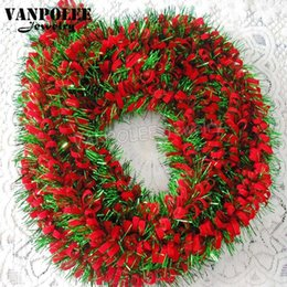 Christmas Decoration Supplies Green With Red Tinsel For New Year   Christmas Tree Decoration Hanging Accessories Deer For Home