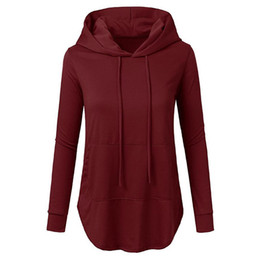 2017 European and American autumn and winter new high quality women's wear with a pure color hoodie