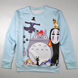 2014 new women's 3D sweatshirt printed anime Totoro Hayao Miyazaki cartoon printing sweatshirts autumn casual pullover hoodies