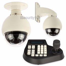 4 pulgadas domo PTZ 12x zoom 700TVL Sony CCD cámara CCTV 360 + controlador del teclado desde ptz 12x fabricantes