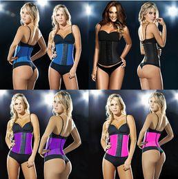 Wholesale 2016 hot waist body shaper sexy women Deportiva Sport Latex Waist Cincher steel bone corset top Ann Chery Style black underbust Plus XS XL