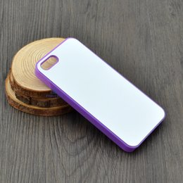 Wholesale Multo color Rubber TPU PC DIY sublimation case for IPHONE s iphone s iphone c with aluminium metal sheet Glue