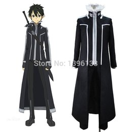 Sword Art Online SAO Extra Edition ALO Kirito Cosplay Costume Anime Cosplay Men Plus Size