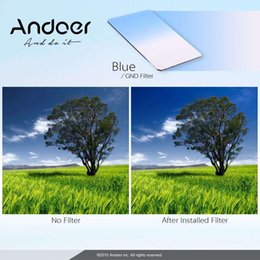 Andoer GND Graduated Blue Camera Filters 100 * 150mm Square Filter Z Series Filter for Lee and Cokin Z-Pro Holders