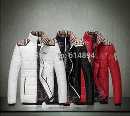 Wholesale High quality British style warm winter luxury men s casual cotton jacket coat thick warm men s fashion Big yards M XL XL