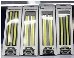 Waterproof cob 17cm 84 led 6W 12V Black Frame LED Car Daytime Running Light drl cob Strip auto day time running lights