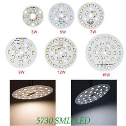 Energy Saving Round 5730 SMD Led Lamp Bulb 3W   5W   7W   9W   12W   15W DC LED Chip Light