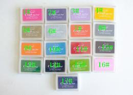 Wholesale 2015 hot sales mix colors for choosing Korea stationery inkpad DIY Scrapbooking Craft Ink pad Creative Cute stamp Inkpad Stamps