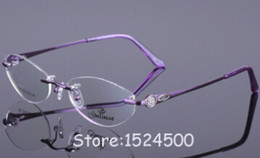 Wholesale Rimless Glasses For Men Myopia Frame Eye Wear Reading Glasses Plain Clear Lens Alloy Metal Gafas Acetic acid oculos de grau