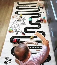 1pcs Baby Game Mat 100% Cotton Adventure Carpet.Racing Game Thin Carpet Children Room Decoration Size 180x70CM
