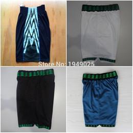 Wholesale Basketball Shorts Kevin Garnett Shorts Andrew Wiggins Karl Anthony Towns Stitched White Blue Black Shorts