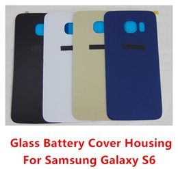 Wholesale 100 OEM New No Scratch Glass Battery Cover Rear Back Door Case For Samsung Galaxy S6 G920 G920F G920A G920T