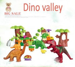 Wholesale New Original Duplo Dino Valley Building Blocks Large particles Dinosaur Paradise Animal Model toys Compatible With Decool