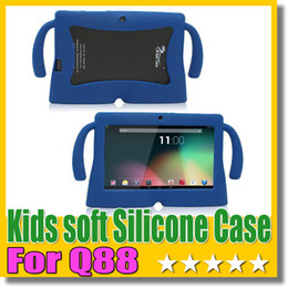 Q88 Soft Silicone Case Kids Big ear Rubber Gel Cover For Q88 A33 A23 Tablet PC