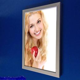 Wholesale LED light box panel clip frame A4 poster single side turn over snap frame backlit signs display