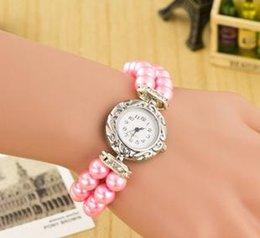 Montres de gros perle à vendre-Vente en gros de perles chaudes en mode mode quartz 6466