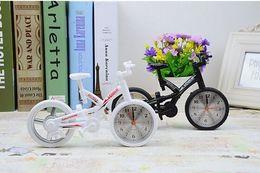 Wholesale New Hot sale Cool Fashion Home Decoration Creative Art Bike Shape Clock Children Kids Bicycle Alarm Clock H019
