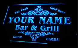 Wholesale tm Name Personalized Custom Family Bar Grill Beer Home Gift Neon Sign Dropshipping