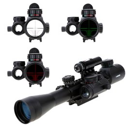3-9X40EG Aluminum Alloy Red Green Illuminated Tactical Riflescope + Red Laser Sight + Holographic Dot Sight