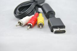2017 playstation cordon vidéo Cord gros-Top qualité AV Câble audio vidéo pour PS2 Playstation 2 Livraison gratuite bon marché playstation cordon vidéo