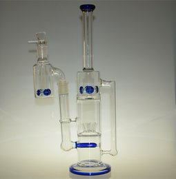 Newest Glass water pipes glass bongs with sprinkle perc and round liner perc and gear perc