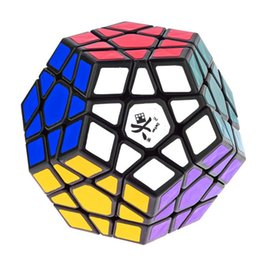 Wholesale Brand New DaYan Megaminx axis rank Dodecahedron Stickerless Magic Cube Speed Puzzle Cubes Toys for kid Child