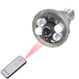 Wholesale HD Bulbe CCTV caméra espion caméra de sécurité cachée lampe caméra espion avec télécommande ampoule LED caméra IR Vision nocturne