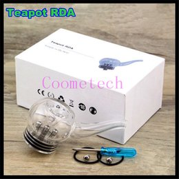 Wholesale New arrival teapot atomizer kit teapot rebuildable glass tank top oiling teapot rda glass pipe with posts in gift box