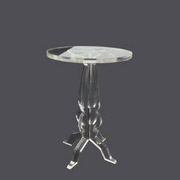 Wholesale 10 pieces Removable transparent cupcake display stands Acrylic muffin stand holder for party favors x12cm
