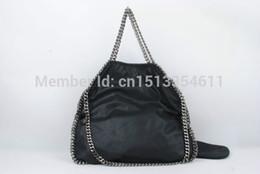 Chain bag women s handbag en Ligne-Gros-2015 TOP QUALITY importée chaîne épaule PVC Stella sac Falabella Sac à main Sac femme Livraison gratuite