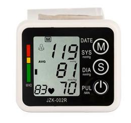 Wholesale Automatic Digital Wrist Blood Pressure monitor and Pulse Monitor Sphygmomanometer Portable Blood Pressure Monitor Health Care