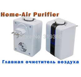 Wholesale Portable Negative Ion Air Purifier Ozonator Air Cleaner Oxygen Bar Purify Air Kill Bacteria Virus Ionizer Send Universal Plug
