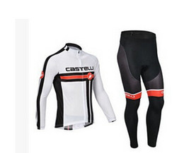 Wholesale-2015 winter Fleece cycling jersey long sleeve Cycling clothing wear Pants winter thermal fleece cycling clothing
