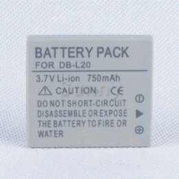 Batterie pour Sanyo DB-L20, DB-L20AU et Xacti VPC-C40, VPC-C5, VPC-C6, VPC-CA6, VPC-CA65, VPC-CA8, VPC-CA9 Caméscope numérique à partir de sanyo caméscope numérique fabricateur