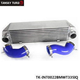 TANSKY - FOR BMW 135 135i 335 335i E90 E92 06-10 N54 TWIN TURBO INTERCOOLER WITH SILICON HOSE KIT RED TK-INT0022BMWT335IQ