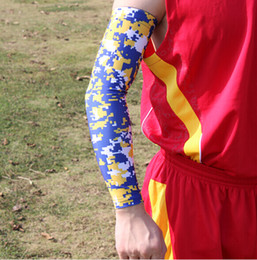 royal blue yellow Digital Camo Arm Sleeves Sleeve Football Baseball Basketball