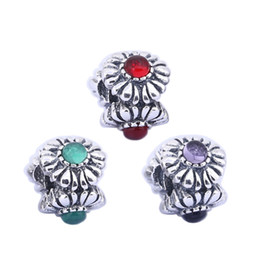 Sterling Silver Charms 925 Ale Three Flower Rhinestone European Charms for Pandora Bracelets DIY Beads Accessories Silver Jewelry