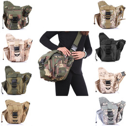 Wholesale Molle Tactical Shoulder Strap Bag Pouch Travel Backpack Camera Military Bag ACU New Outdoor Sports Bags